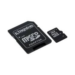 Картка пам'ятi KINGSTON microSDHC 8 GB Class 4 з SD адаптером