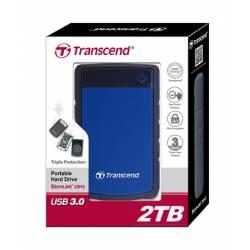 Зовнішній жорсткий диск Transcend StoreJet 2.5 USB 3.0 2TB серія H Blue