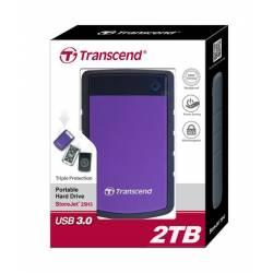 Зовнішній жорсткий диск Transcend StoreJet 2.5 USB 3.0 2TB серія H Purple