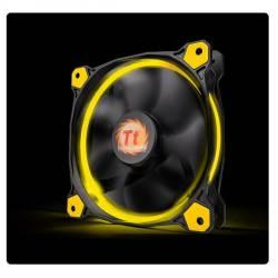 Корпусний вентилятор Thermaltake Riing 12,120мм, 1500об / хв, 3pin, 24.6dBA, Yellow LED