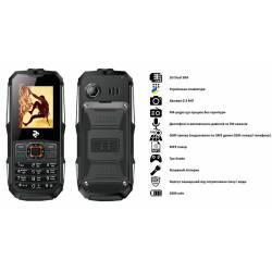Мобільний телефон TWOE R180 Dual Sim Black