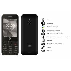 Мобільний телефон TWOE E280 Dual Sim Black