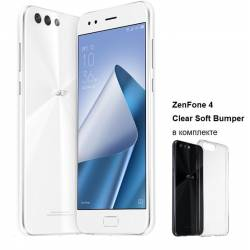 Смартфон Asus ZenFone 4 (ZE554KL-6B011WW) DualSim White+bumper