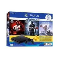 Ігрова консоль SONY PlayStation 4 Slim 500 Gb Black(HZD+GTS+UC4+PSPlus 3М)